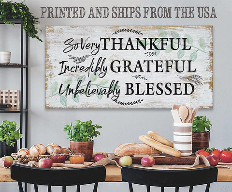 Image of So Very Thankful - Canvas
