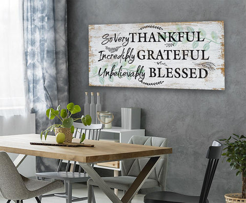 Image of So Very Thankful - Canvas.