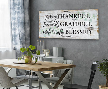 So Very Thankful - Canvas