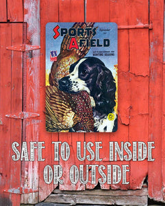 Sports Afield Bird Dog Hunting Cover Cover - Metal Sign.