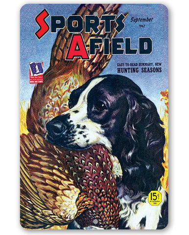 Image of Sports Afield Bird Dog Hunting Cover Cover - Metal Sign.
