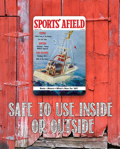 Sports Afield Deep Water Fishing Cover - Metal Sign.