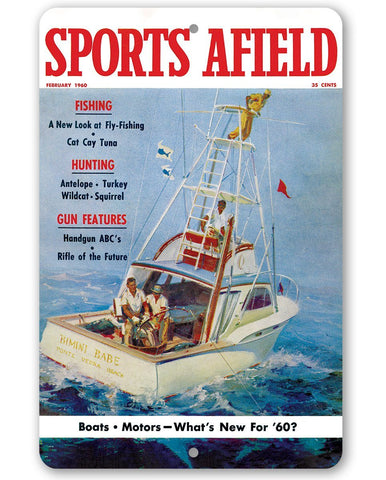 Image of Sports Afield Deep Water Fishing Cover - Metal Sign.
