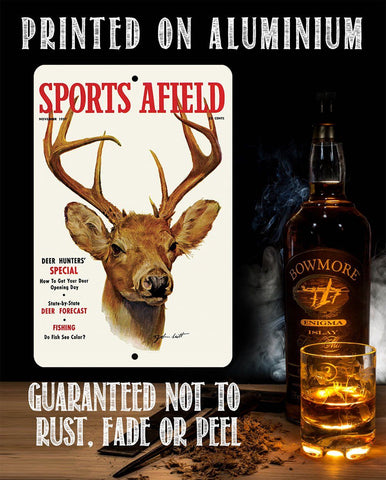 Sports Afield Deer Hunting Cover - Metal Sign.