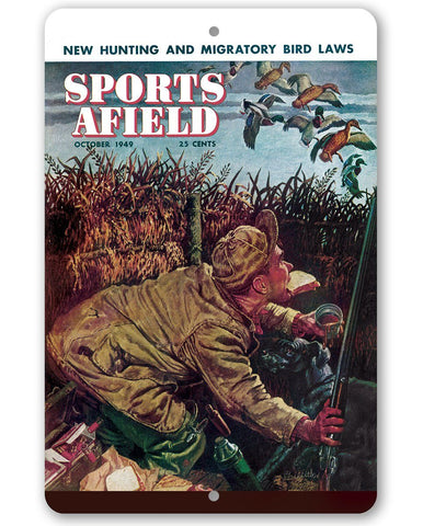 Sports Afield Duck Hunting Cover - Metal Sign.