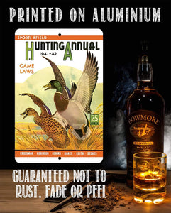 Sports Afield Ducks in Flight Cover - Metal Sign.
