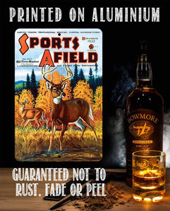 Sports Afield Fall Deer Hunting Cover - Metal Sign.