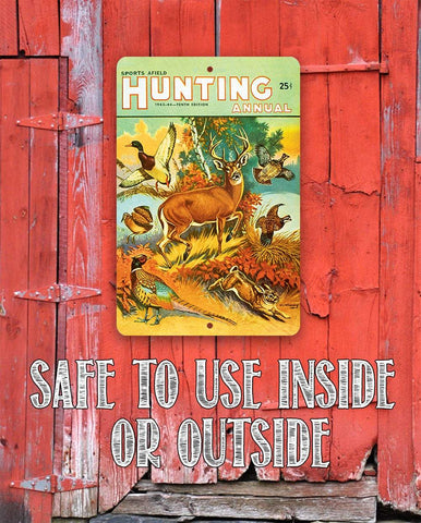 Image of Sports Afield Fall Hunting Cover - Metal Sign.