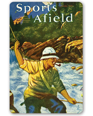 Image of Sports Afield Mountain Fly Fishing Cover - Metal Sign.
