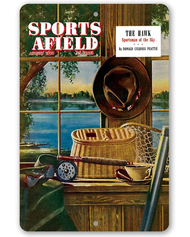 Image of Sports Afield Ready for Fly Fishing Cover - Metal Sign.