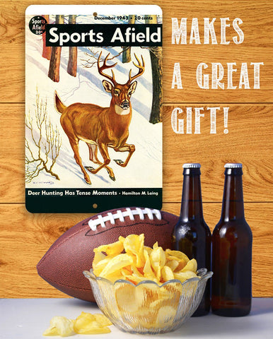 Sports Afield Snow Deer Cover - Metal Sign.