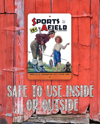 Image of Sports Afield The Best Fishing Spot Cover - Metal Sign.