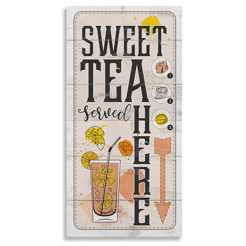 "Image of Sweet Tea Served Here - Canvas Lone Star Art 12"" x 24"""