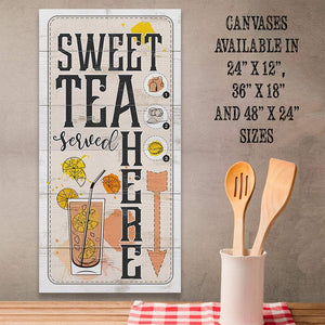 Sweet Tea Served Here - Canvas Lone Star Art
