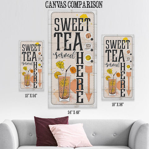Image of Sweet Tea Served Here - Canvas Lone Star Art