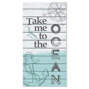 "Take Me To The Ocean - Canvas Lone Star Art 12"" x 24"""