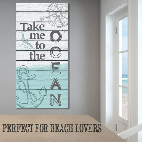 Image of Take Me To The Ocean - Canvas Lone Star Art