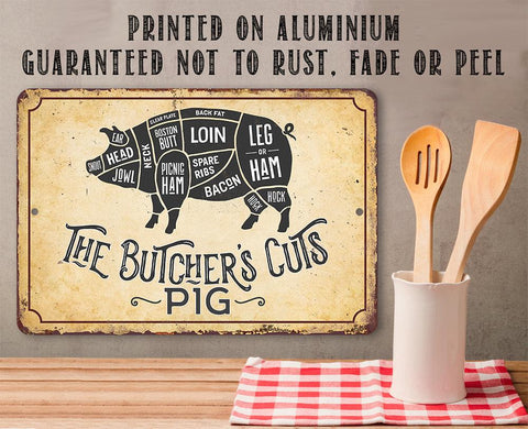 Image of The Butcher's Cut PIG - Metal Sign Metal Sign Lone Star Art