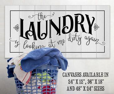 The Laundry Dirty - Canvas.