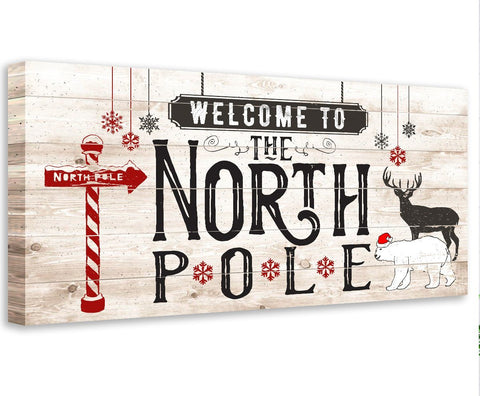 Image of The North Pole - Canvas Wall Hangings Lone Star Art