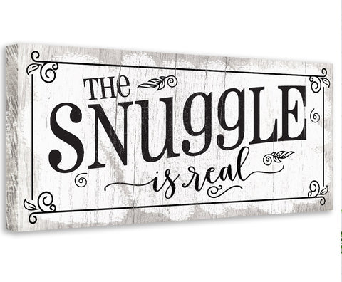 Image of The Snuggle Is Real - Canvas Wall Hangings Lone Star Art