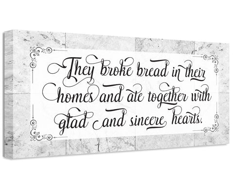Image of They Broke Bread - Canvas Wall Hangings Lone Star Art