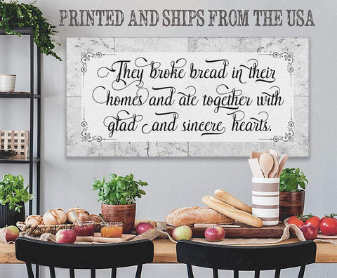 Image of They Broke Bread - Canvas