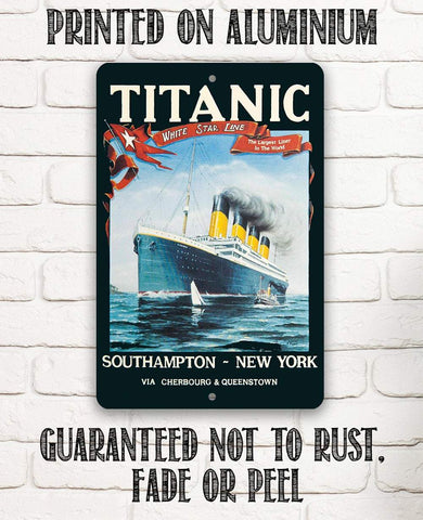 Titanic Poster - Metal Sign.