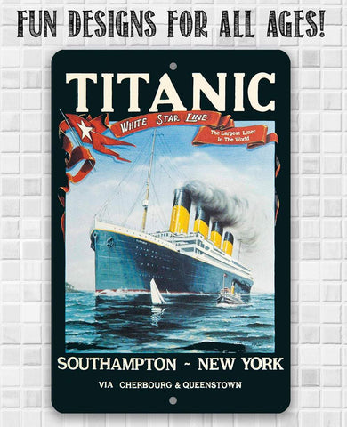 Image of Titanic Poster - Metal Sign.