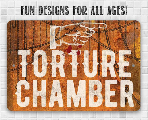 Image of Torture Chamber - Metal Sign.