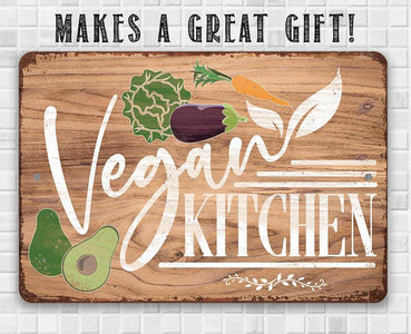 Vegan Kitchen - Metal Sign.