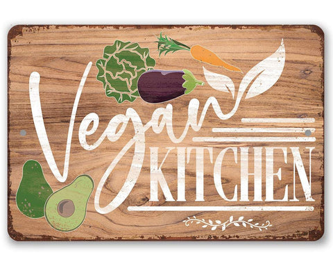 Image of Vegan Kitchen - Metal Sign.