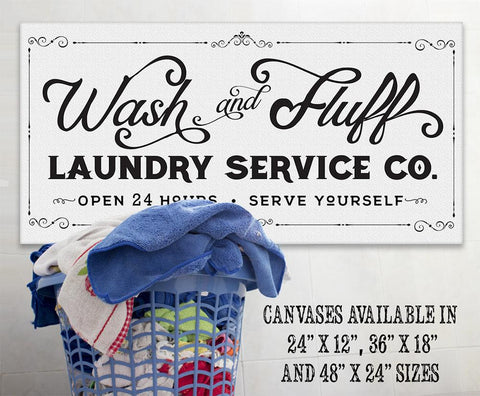 Image of Wash & Fluff Laundry - Canvas.