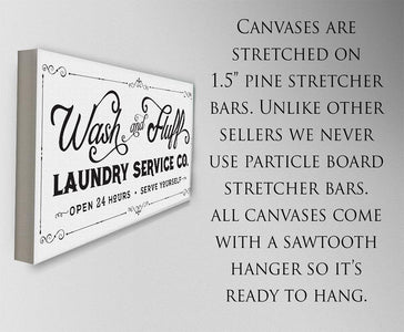 Wash & Fluff Laundry - Canvas.