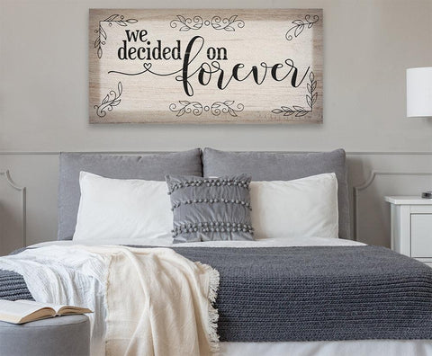 Image of We Decided On Forever - Canvas.