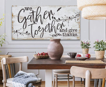 We Gather Together and Give Thanks - Canvas Lone Star Art