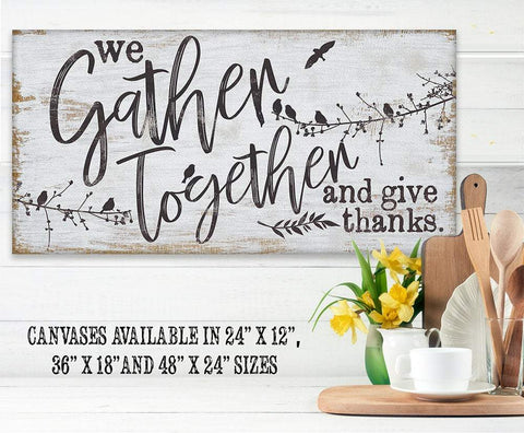 Image of We Gather Together and Give Thanks - Canvas Lone Star Art