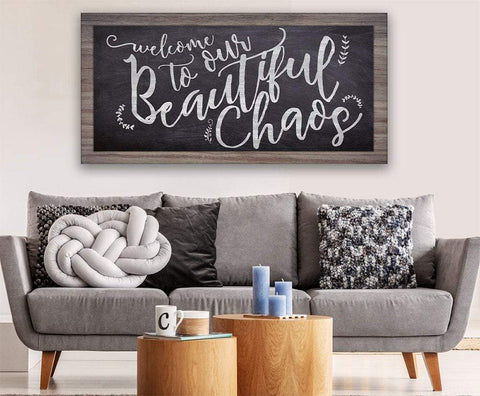 Image of Welcome To Chaos - Canvas.
