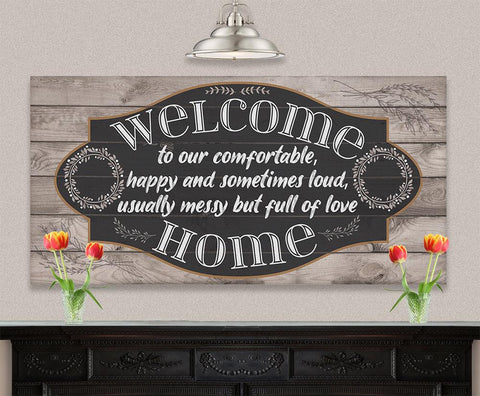 Image of Welcome To Our Happy - Canvas.