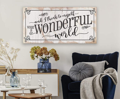 Image of What a Wonderful World - Canvas.