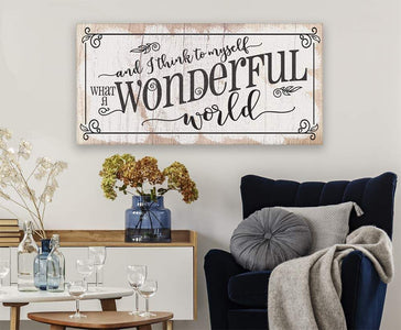 What a Wonderful World - Canvas.