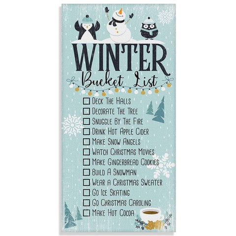 "Image of Winter Bucket List - Canvas Lone Star Art 12"" x 24"""