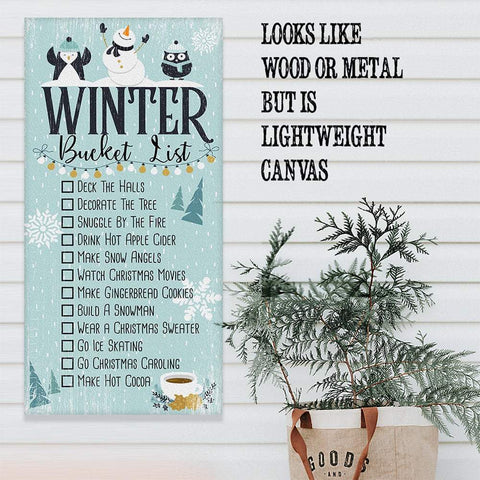 Image of Winter Bucket List - Canvas