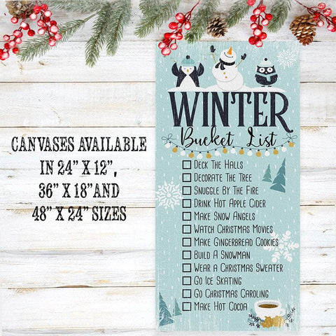 Image of Winter Bucket List - Canvas Lone Star Art
