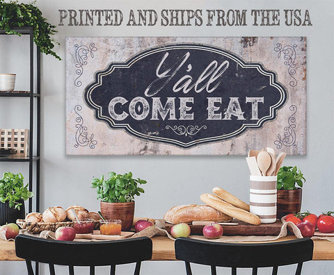 Image of Y'all Come Eat - Canvas.