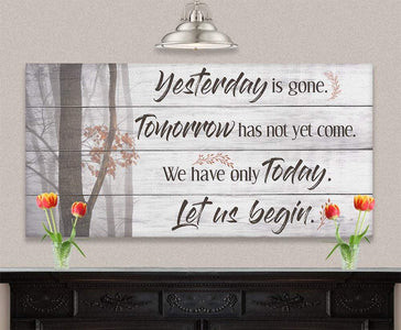 Yesterday Is Gone - Canvas.