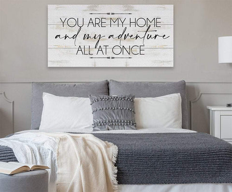 Image of You Are My Home And My Adventure - Canvas.