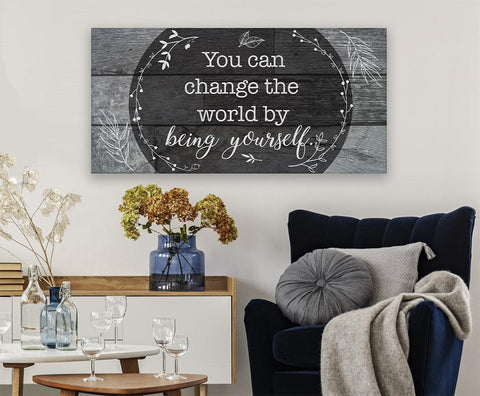 Image of You Can Change The World - Canvas.