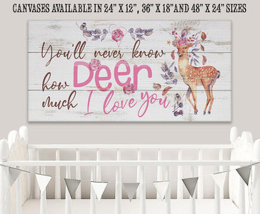 You'll Never Know Deer (Girl) - Canvas Lone Star Art