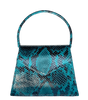 BLUE + BLACK SNAKE ZAZA Purse Anima Iris